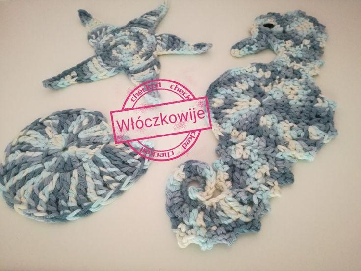 Crochet coasters. Sea.