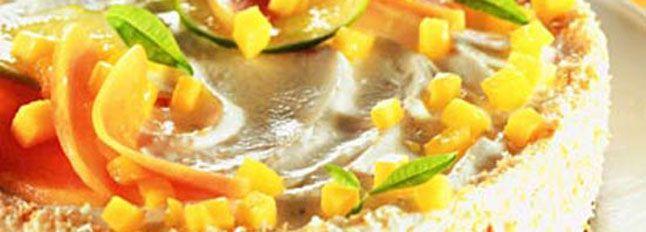 Recette Cheesecake au Mascarpone et aux fruits tropicaux