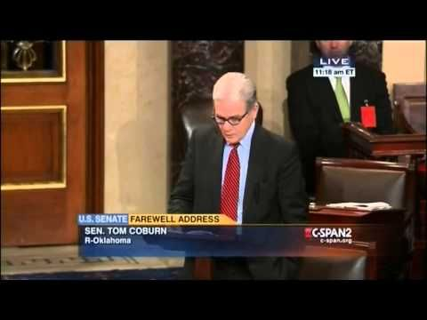 """Retiring Conservative Senator Tom Coburn Chastises Colleagues For """"Misinterpreting"""" Their Oaths 