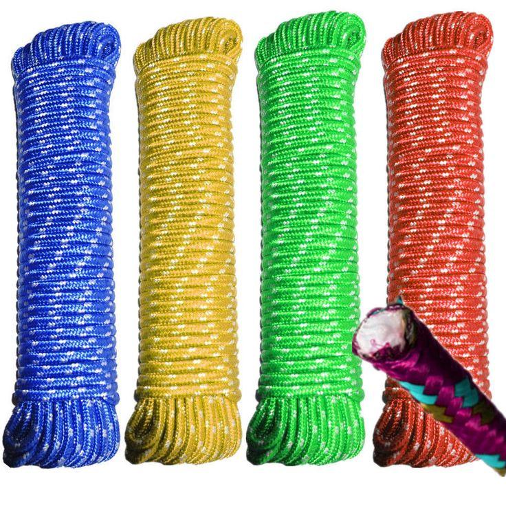 Heavy Duty Braided Waterproof Flexible Polypropylene Fibre Rope 10mm x 30m #5187