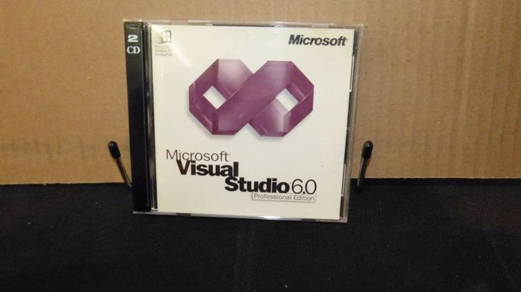 Microsoft Visual Studio 6.0 Professional Edition + KEY = 2CDs Windows NT 98 1998 #Microsoft