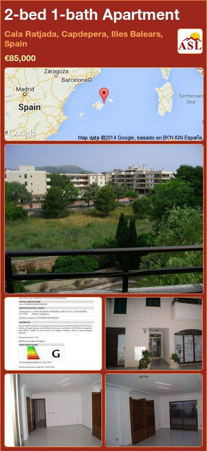 2-bed 1-bath Apartment in Cala Ratjada, Capdepera, Illes Balears, Spain ►€85,000 #PropertyForSaleInSpain