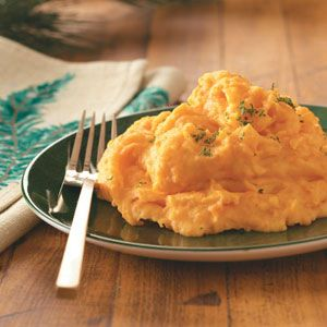 Whipped Potatoes and Carrots Recipe - I substituted greek yogurt for the milk in this recipe.