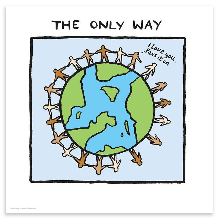 Edward Monkton - The Only Way, Hand Pulled Silk Screen Print, 50.80 x 50.80cm | ACHICA