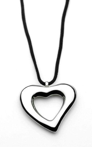 Heart Breaker pendant on Black Silk cord