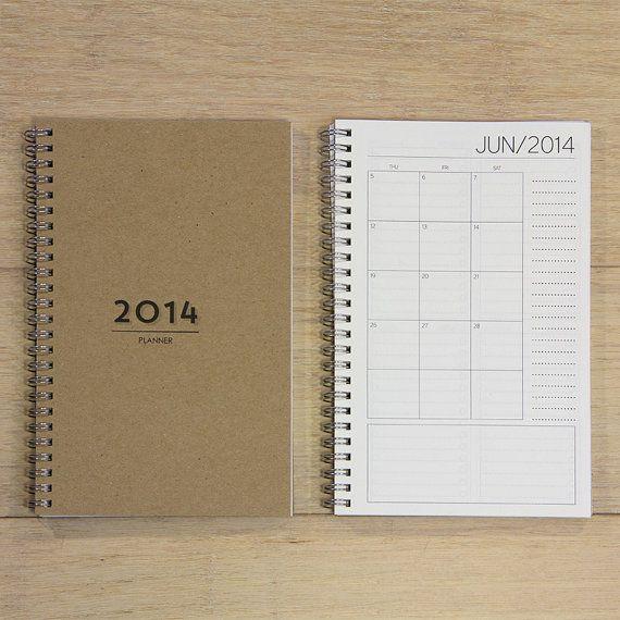 DATED bills calendar by REDSTARink on Etsy