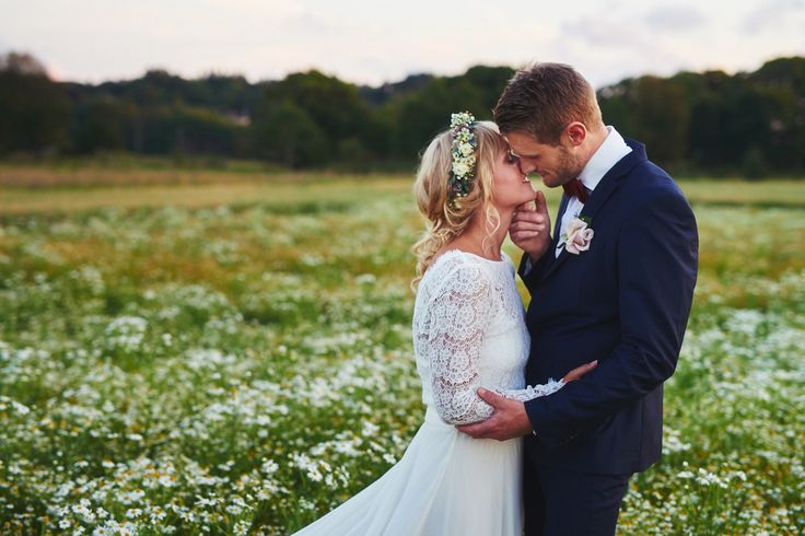 I was so happy to find this field of daisies. I shoot this session during the golden hour. Wedding photograpy inspiration.