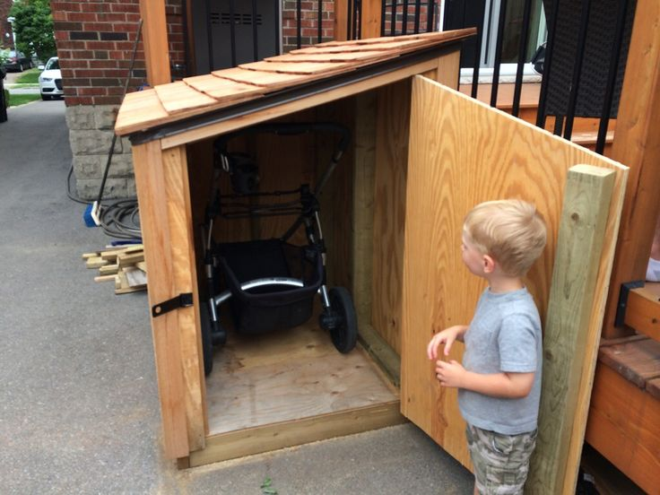 stroller storage shed                                                                                                                                                     More