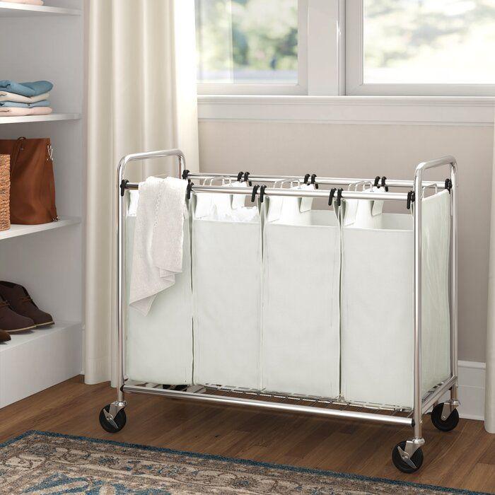 Heavy Duty Quad Laundry Hamper In 2020 Laundry Hamper Hamper