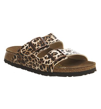 Arizona Two Strap Leopard Sandals Birkenstock Sandals