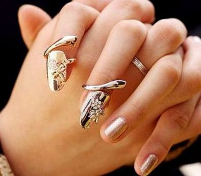 Nail+Ring++Gold+with+CZ+Crystals+from+CamelysUnikatBijoux+by+DaWanda.com