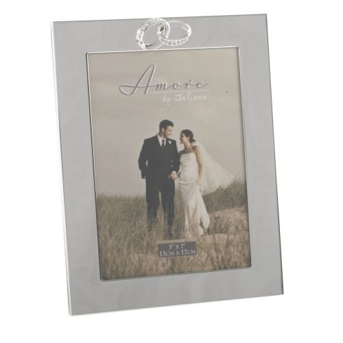Amore by Juliana Photo Frame - Silverplated With Crystal Rings - 5x7 - FS43157
