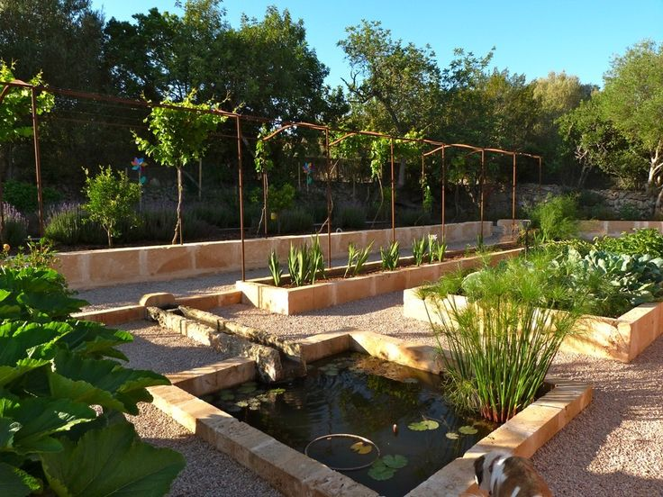 Walled kitchen garden in Mallorca #gardendesign #Mallorca #Contemporanium