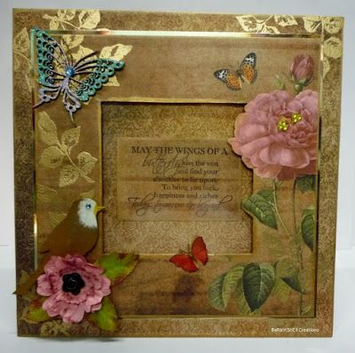 BaRb'n'ShEll Creations - Majestic Butterfly Frame, Kaszazz - BaRb