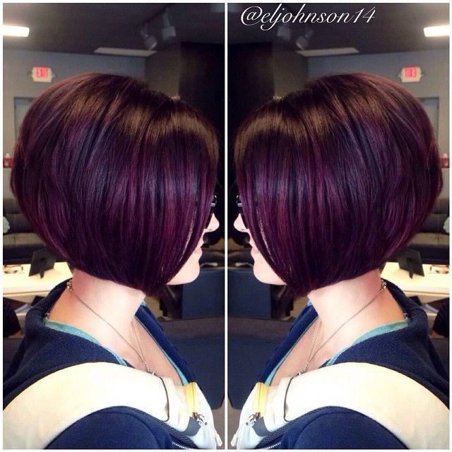 Best 25 plum hair highlights ideas on pinterest plum hair plum bobbed hairstyle more dark plum hair pmusecretfo Choice Image
