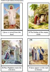Stations of the Resurrection cards and Stations of the Cross cards. Click on the link, scroll down, then open the PDF file labeled Stations of the Cross Box.