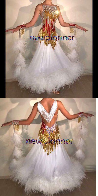 2ef8f081c8e7 Ballroom 152361: Feather Competition Ballroom Waltz Tango Smooth Standard  Dance Dress Us 6 Uk 8 -> BUY IT NOW ONLY: $889.99 on #eBay #ballroom # feather ...