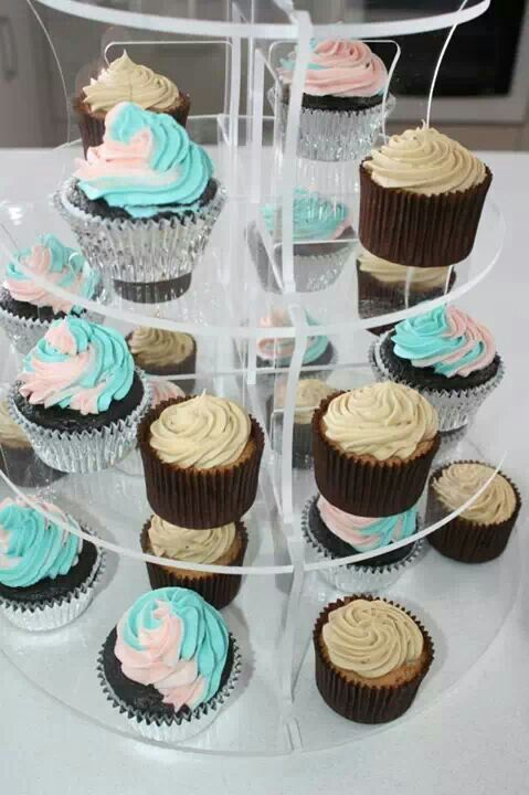 Mocha and chocolate cupcakes