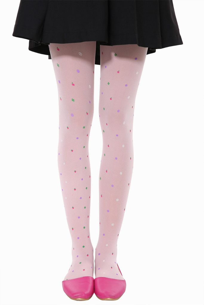 Cute Candy Fruits Tights In Pink. Free 3-7 days expedited shipping to U.S. Free first class word wide shipping. Customer service: help@moooh.net