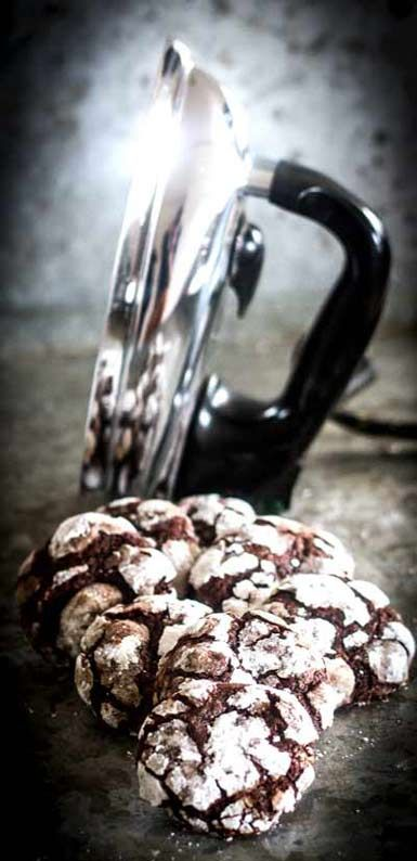 Chocolate Crackle Cookies | Mumbles-and-Rumbles