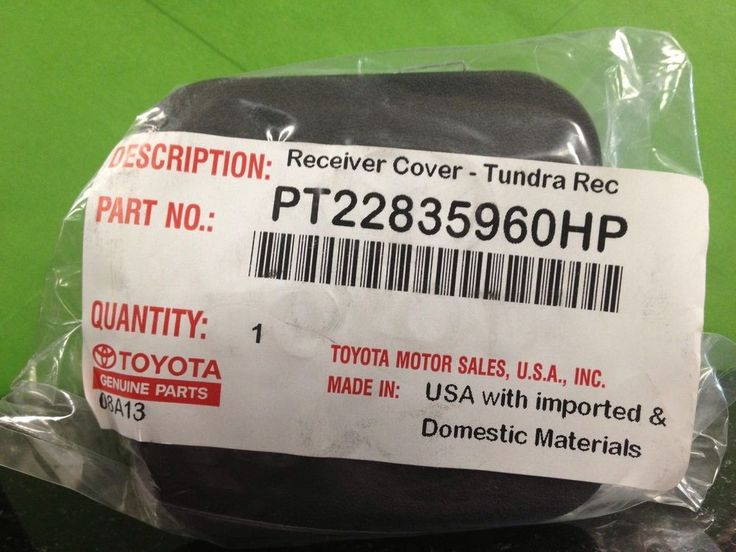 "Genuine 2002 - 2016 Toyota 4-Runner Trailer Receiver Hitch Cover 2"" OEM TRD #TOYOTA"