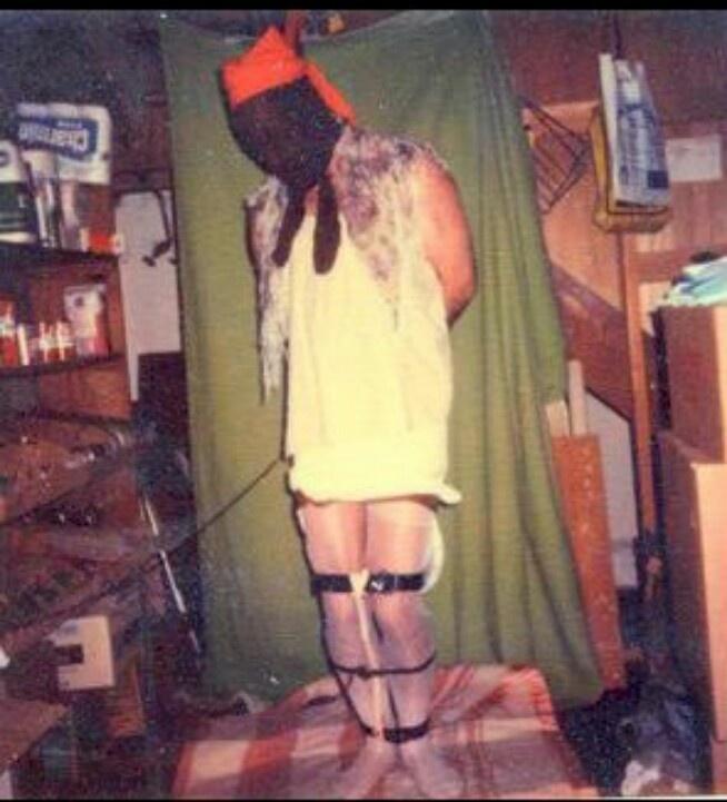 Dennis Radar self portrait. Taken in his parents basement while wearing victims clothing. BTK killer