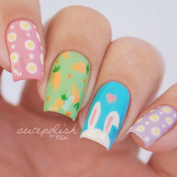 The 25 best easter nail designs ideas on pinterest easter nails the 25 best easter nail designs ideas on pinterest easter nails easter nail art and bunny nails prinsesfo Choice Image