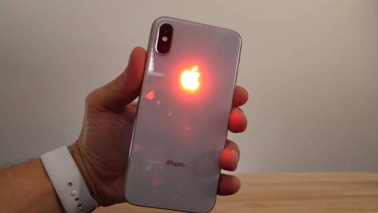 Check out this Glowing Apple Logo Mod on iPhone X!