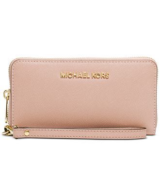 MICHAEL Michael Kors Jet Set Travel Large Coin Multifunction Wallet - Handbags & Accessories - Macy's