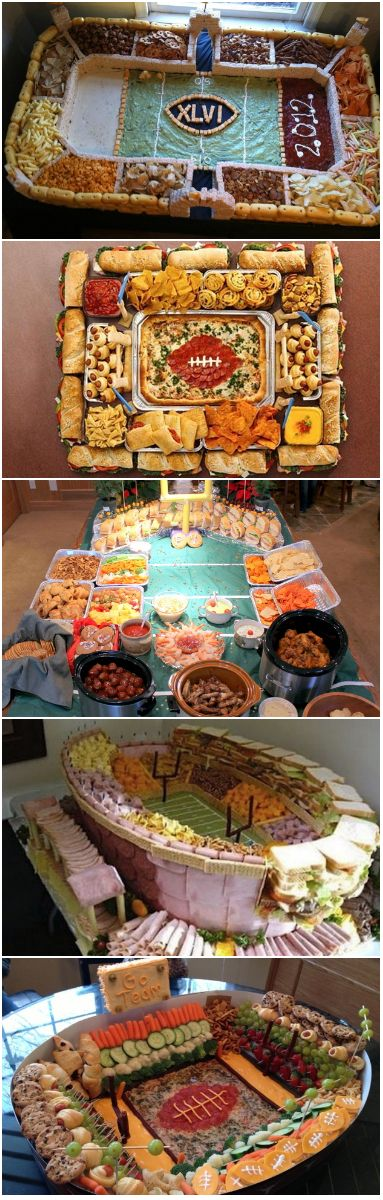 "21 Incredible Football Stadiums Made Of Snacks - and most of these are made by private persons to their own private parties, in their own private homes... I'm amazed by the effort, find the idea interesting and inspiring - want to try this - and at the same time I'm thinking ""some people... they have too much time in their hands... building snackadiums... dang."""