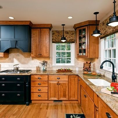 87 best images about kitchens on pinterest hickory for Kitchen remodel keeping oak cabinets