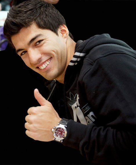 My Favorite Soccer Player Luis Suarez...love the watch!
