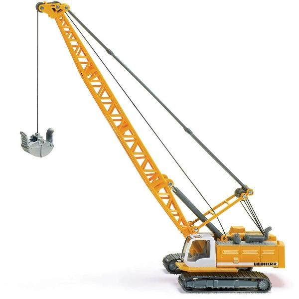 Jual beli Liebherr CABLE EXCAVATOR CONSTRUCTION Diecast SIKU di Lapak Rijal Bakule - rijal6683. Menjual Diecast - Liebherr CABLE EXCAVATOR CONSTRUCTION Diecast SIKU An impressive Liebherr construction site model made to the child friendly 1:87 scale. Rotating body in die-cast metal. With height-adjustable crane arm. Moving tracks are made of plastic. The crane hook is made of metal and height-adjustable using a swivel lever.  +Excavator with rotating body. +With height-adjustable crane arm…
