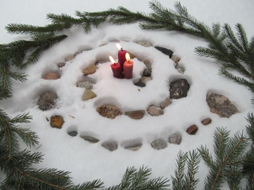 Winter Solstice spiral #Yule #nature