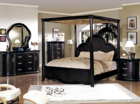 NC9000Q(TV)-SET Nicolette 5 Queen PC Poster Bedroom Collection With TV — Sproducts