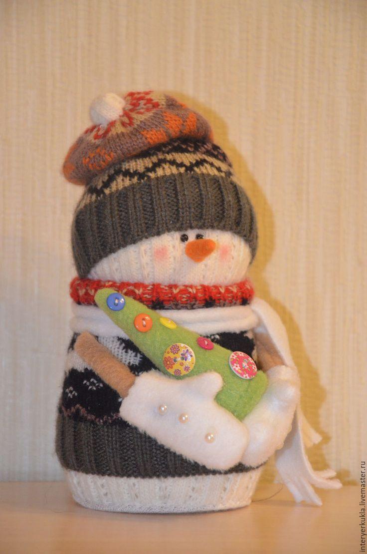 Купить Снеговик Новогодний! - комбинированный, снеговик, снеговичок, снеговички, снеговик в подарок, снеговик игрушка