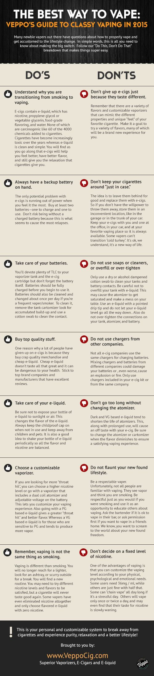 Make the switch from #cigarettes to #ecigs seamless with these nifty tips. #infographic
