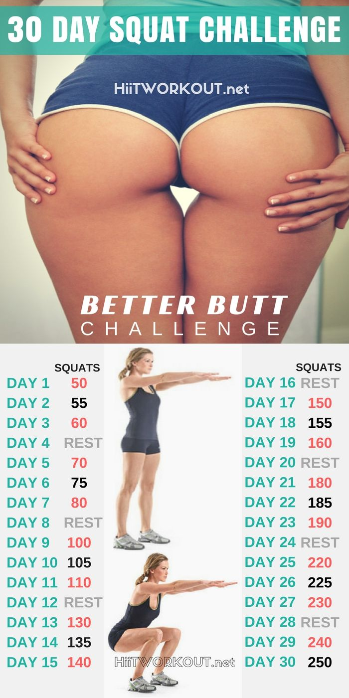 30 Day Squat Challenge That Will Totally Transform Your Butt