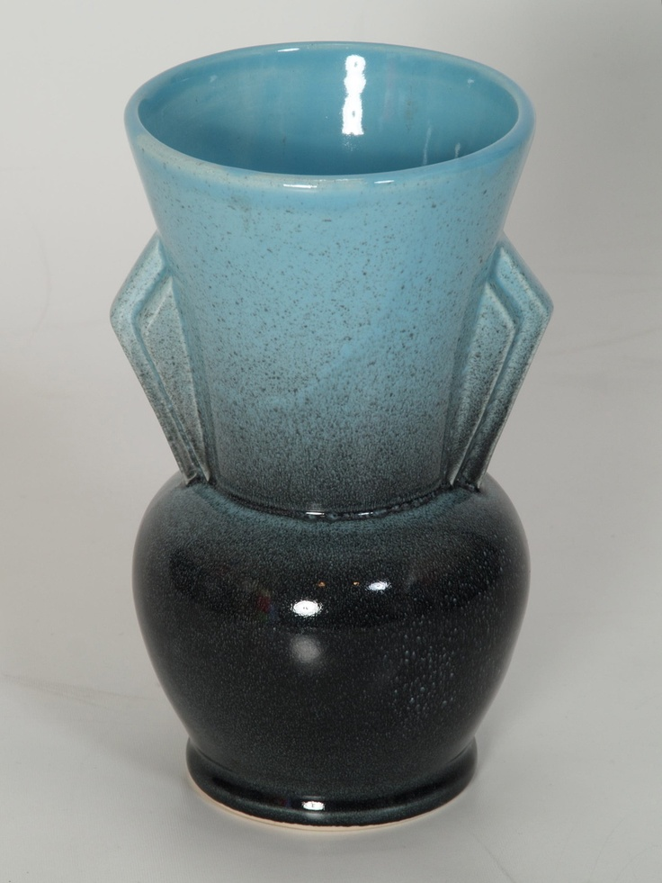 Canadian Beauceware Art Pottery Vase in the Art Deco Style