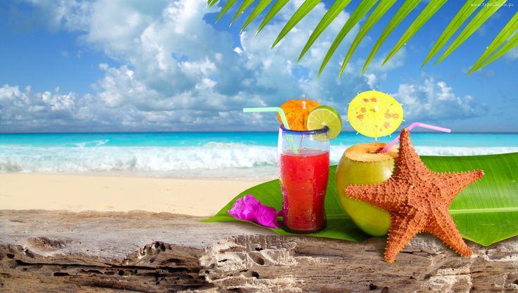 Letnia, Plaża, Drinki, Rozgwiazda