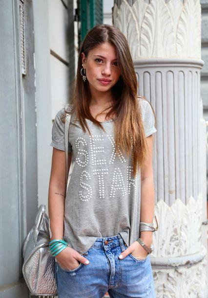 #ChiaraNasti indossa la tshirt #LollyStar #SexyStar
