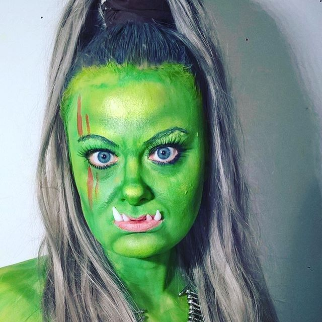 Makeup challenge. Day 60 -Warrior Orc from World Of Warcraft. For more facepaint, sfx, makeup, costume and cosplay picture follow @mycharacterdesign on instagram. Makeup: Kristin Sunde. Model: Kristin Sunde.