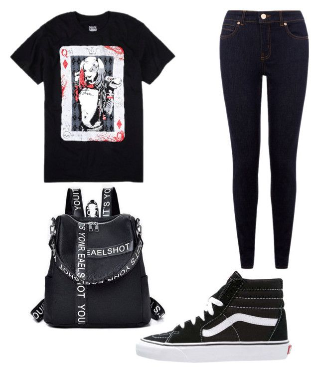 """""""Untitled #15"""" by westboorg-e on Polyvore featuring DC Comics and Vans"""