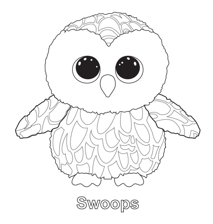 swoops 2 beanie boo coloring pages printable and coloring book to print for free find more coloring pages online for kids and adults of swoops 2 beanie boo - Beanie Boo Coloring Pages