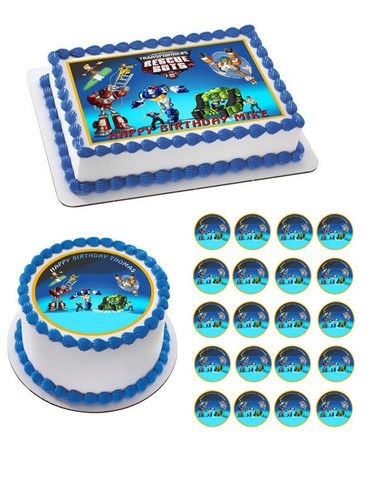 Transformers Rescue Bots Edible Birthday Cake Topper OR ...
