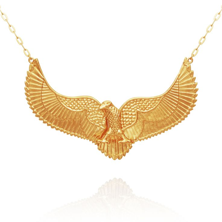 TEMPLE OF THE SUN JEWELLERY BYRON BAY - Eagle Necklace Gold, $339.00 (http://www.templeofthesun.com.au/eagle-necklace-gold/)
