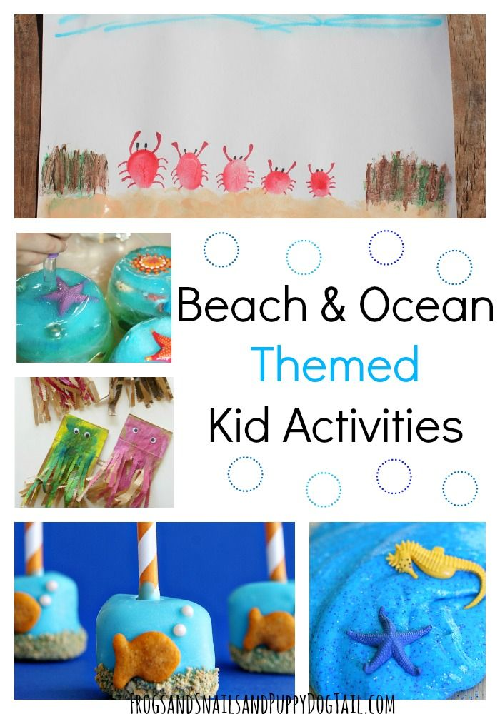 Beach and Ocean Themed Kid Activities. Fun for a summer camp week or at home play ideas. - FSPDT