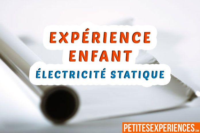 Une expérience amusante sur l'électricité statique à faire avec de l'aluminium et un ballon. Une expérience amusante pour les enfants.