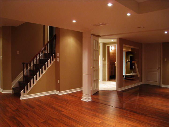 ideas for beams on ceiling - Basement Finishing 4 Weeks Basement Ideas