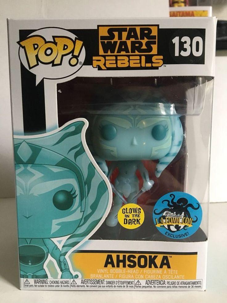 Funko POP! Star Wars Rebels ASHOKA 130 GITD Stan Lee's LA Comic Con 2017 New  | eBay